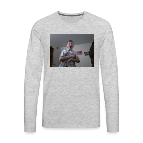 Xavier bongo hoodie/ wow - Men's Premium Long Sleeve T-Shirt