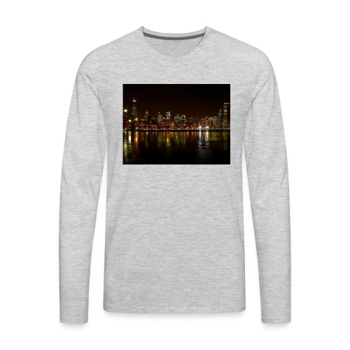 chicago skyline - Men's Premium Long Sleeve T-Shirt