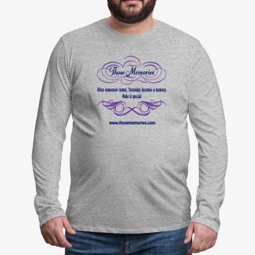 Those Memories Logo - Men's Premium Long Sleeve T-Shirt