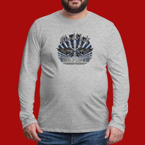BloodShot Air Force with black - Men's Premium Long Sleeve T-Shirt