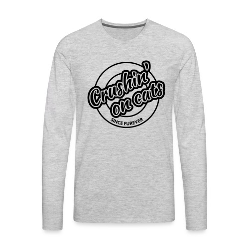 Crushing on cats - Men's Premium Long Sleeve T-Shirt
