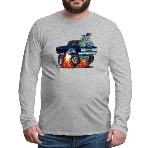 Classic Sixties Muscle Car Cartoon - Men's Premium Long Sleeve T-Shirt