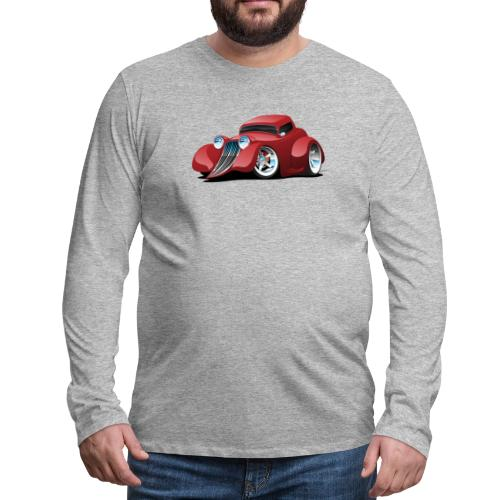 Red Hot Rod Restomod Custom Coupe Cartoon - Men's Premium Long Sleeve T-Shirt