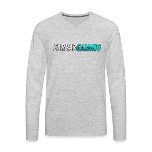 FaryazGaming Theme Text - Men's Premium Long Sleeve T-Shirt