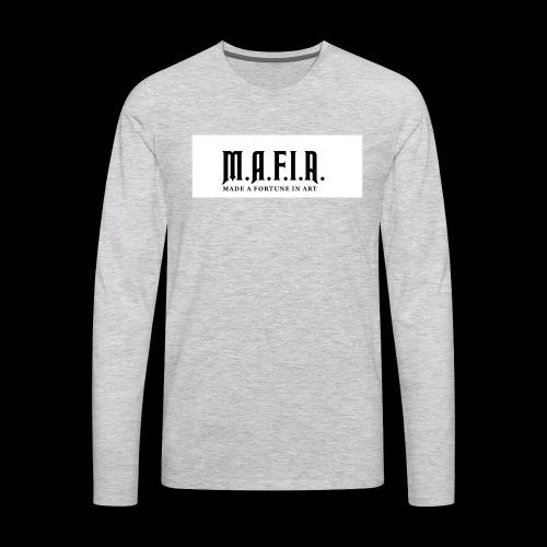 Classic Mafia Logo(White) - Men's Premium Long Sleeve T-Shirt