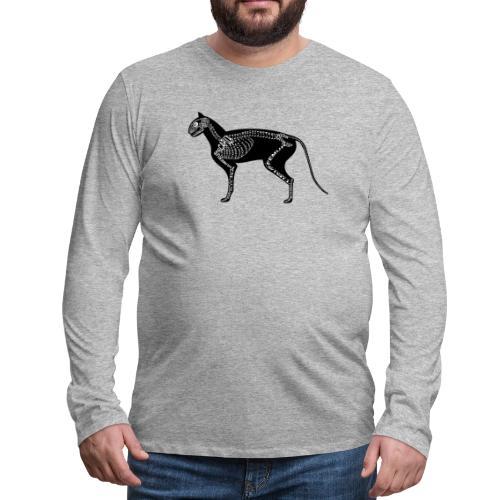 Skeleton Cat - Men's Premium Long Sleeve T-Shirt
