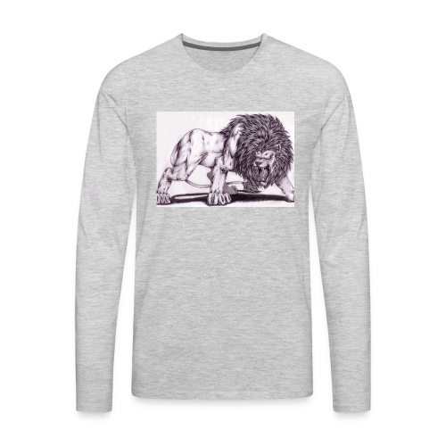 Lion Tee - Men's Premium Long Sleeve T-Shirt