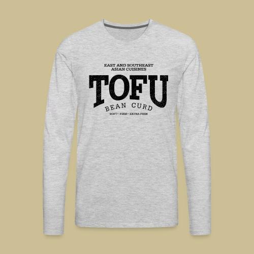 Tofu (black oldstyle) - Men's Premium Long Sleeve T-Shirt