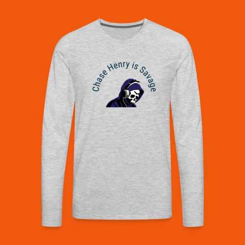Chase Henry is Savage - Men's Premium Long Sleeve T-Shirt