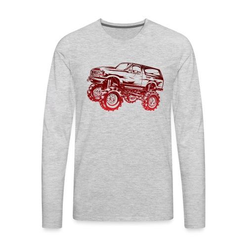 Mega Mud Ford Bronco Red - Men's Premium Long Sleeve T-Shirt