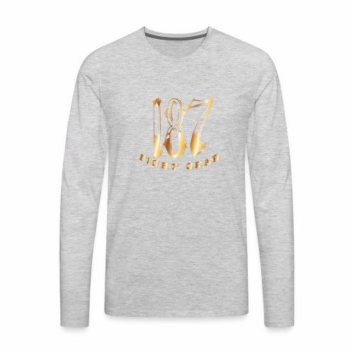 187 Fight Gear Gold Logo Sports Gear - Men's Premium Long Sleeve T-Shirt