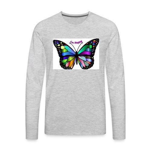 Happy Butterfly - Men's Premium Long Sleeve T-Shirt