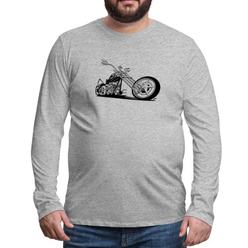 Custom American Chopper Motorcycle - Men's Premium Long Sleeve T-Shirt