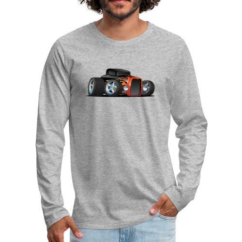 Hot Rod Classic Coupe Custom Car Cartoon - Men's Premium Long Sleeve T-Shirt