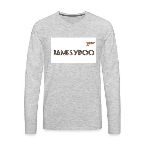 Jamesypoo logo - Men's Premium Long Sleeve T-Shirt