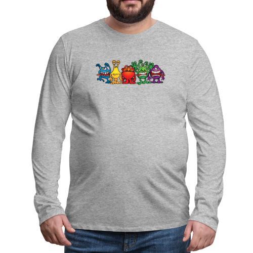 Alien Friends - Men's Premium Long Sleeve T-Shirt