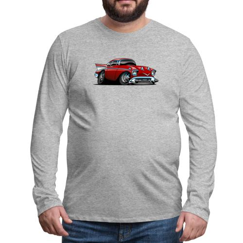 Classic American 57 Hot Rod Cartoon - Men's Premium Long Sleeve T-Shirt