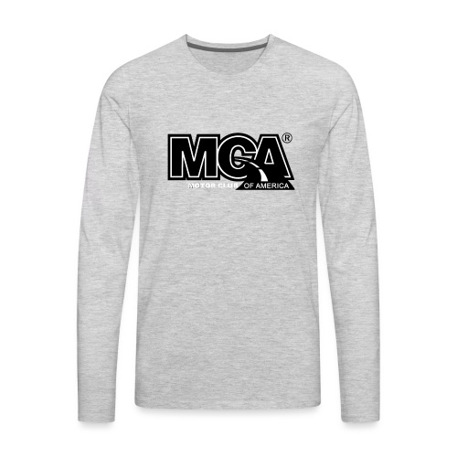 MCA Logo WBG Transparent BLACK TITLEfw fw png - Men's Premium Long Sleeve T-Shirt