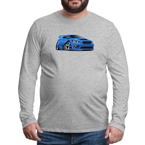 Modern Import Sports Car Cartoon Illustration - Men's Premium Long Sleeve T-Shirt