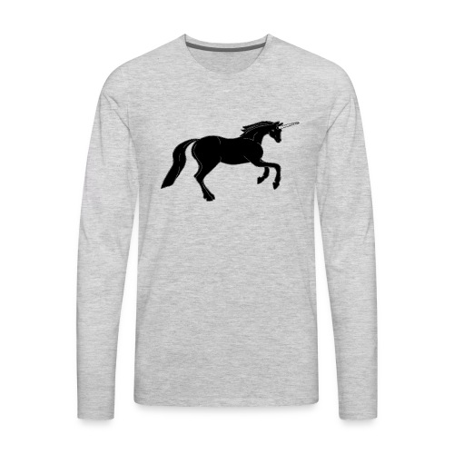 unicorn black - Men's Premium Long Sleeve T-Shirt