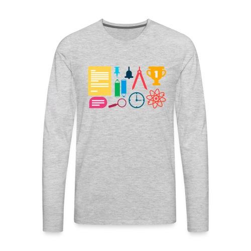 school supplies - Men's Premium Long Sleeve T-Shirt