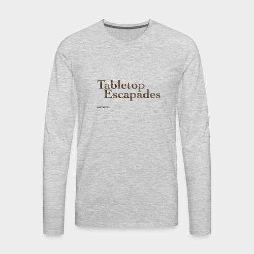 Tabletop Escapades Logo - Men's Premium Long Sleeve T-Shirt
