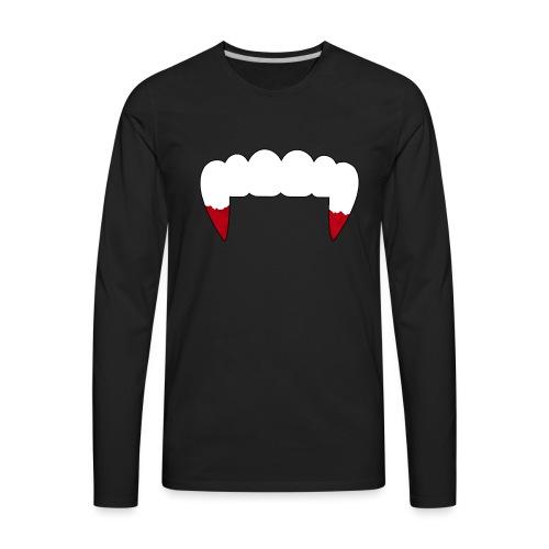 Vampire Fangs - Men's Premium Long Sleeve T-Shirt
