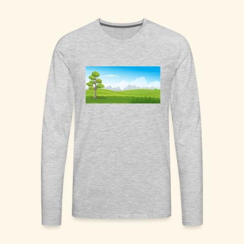 Hills cartoon - Men's Premium Long Sleeve T-Shirt