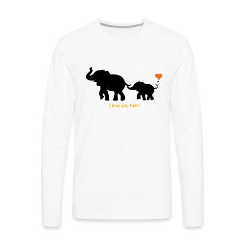 I Love You Tons! - Men's Premium Long Sleeve T-Shirt