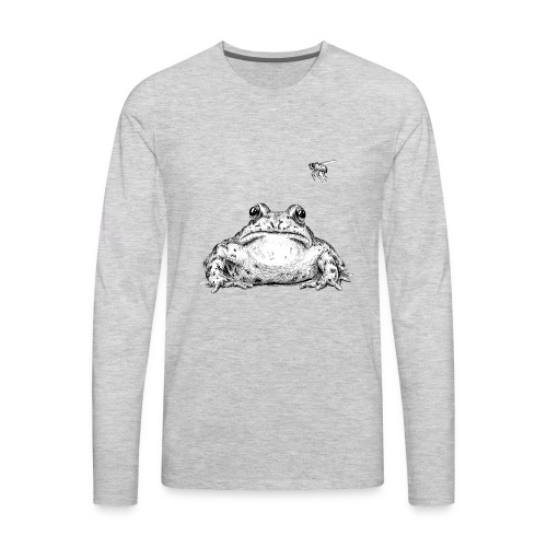 Frog with Fly by Imoya Design - Men's Premium Long Sleeve T-Shirt