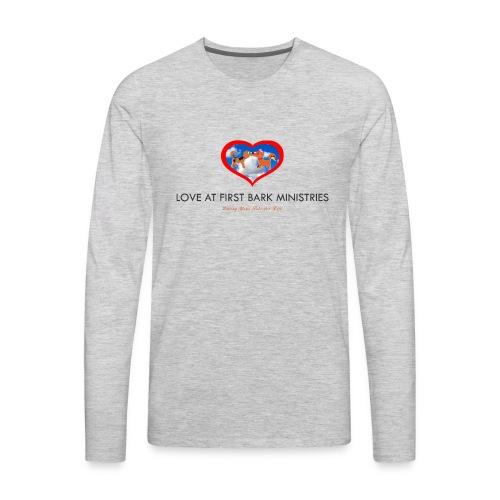 loveatfirstbarklogo - Men's Premium Long Sleeve T-Shirt