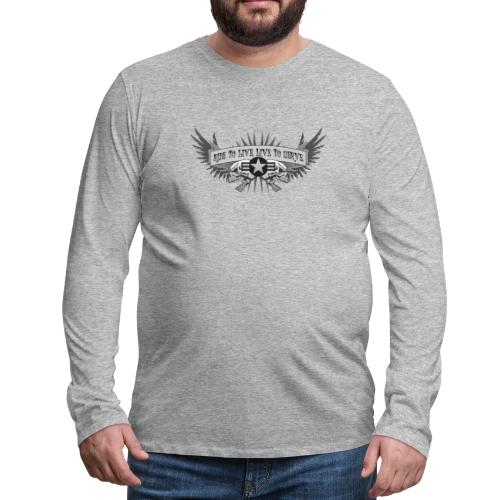 Ride to Live. Live to Serve. - Men's Premium Long Sleeve T-Shirt