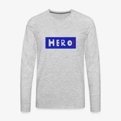 hero shirt - Men's Premium Long Sleeve T-Shirt