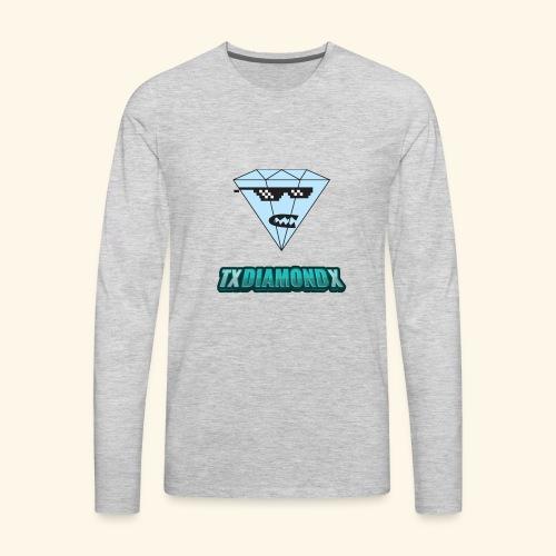 Txdiamondx Diamond Guy Logo - Men's Premium Long Sleeve T-Shirt