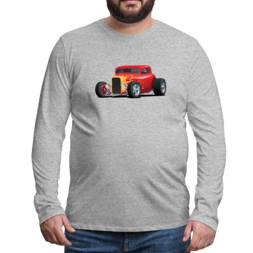 Classic Bold Red Custom Street Rod - Men's Premium Long Sleeve T-Shirt