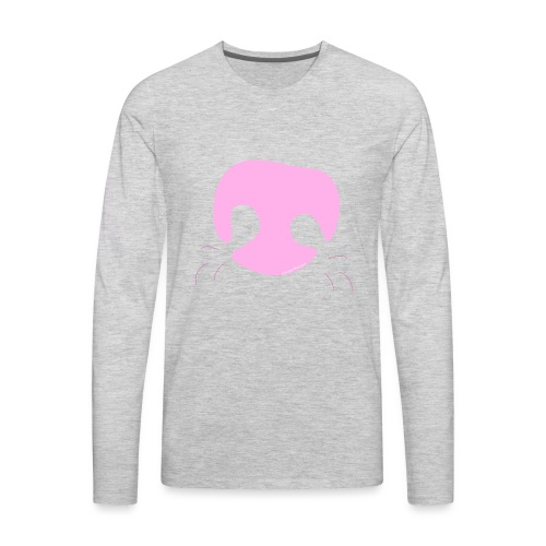 Pink Whimsical Dog Nose - Men's Premium Long Sleeve T-Shirt