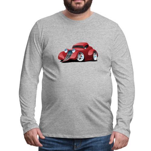 Red Hot Rod Restomod Custom Coupe Cartoon - Men's Premium Long Sleeve T-Shirt