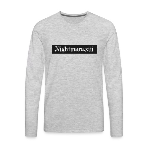 Nightmara logo written - Men's Premium Long Sleeve T-Shirt