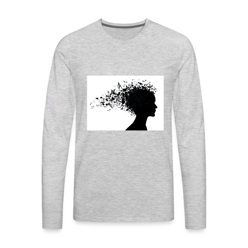 music through my head - Men's Premium Long Sleeve T-Shirt