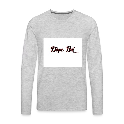 Dope boi logo red and black - Men's Premium Long Sleeve T-Shirt