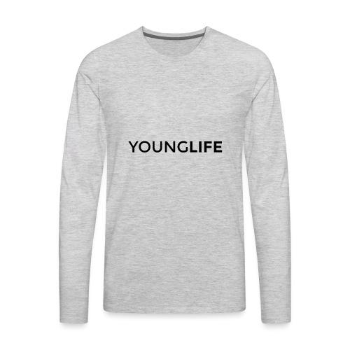 Young Life logo (text)(black) - Men's Premium Long Sleeve T-Shirt
