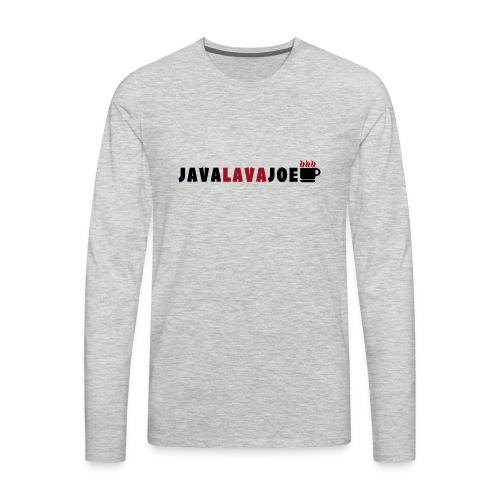 JavaLavaJoeLogo - Men's Premium Long Sleeve T-Shirt