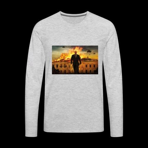 putin destroys white house - Men's Premium Long Sleeve T-Shirt