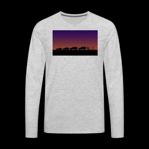 The Weekend Wagon Sunset Logo - Men's Premium Long Sleeve T-Shirt