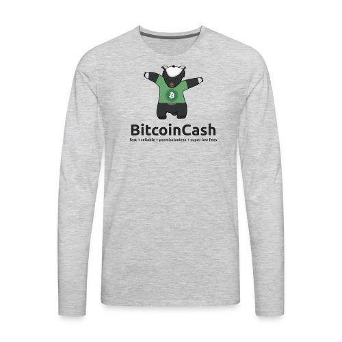 Bitcoin Cash max badger Green - Men's Premium Long Sleeve T-Shirt