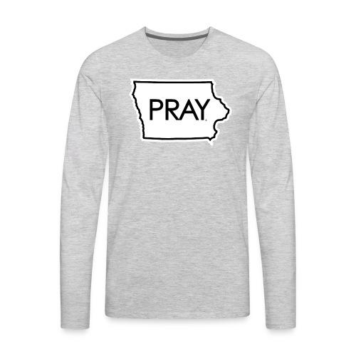 Pray Iowa - Men's Premium Long Sleeve T-Shirt