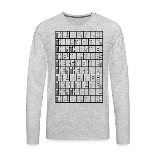 They Them Theirs (Repeating Block) - Men's Premium Long Sleeve T-Shirt