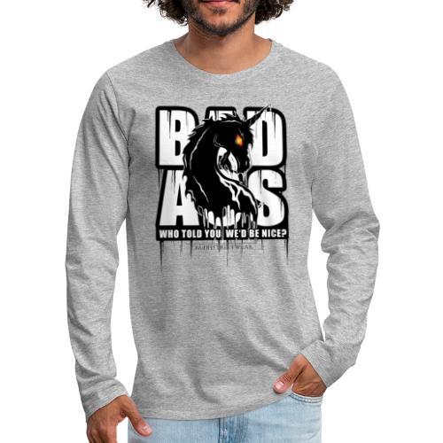 Bad Ass Unicorn - Men's Premium Long Sleeve T-Shirt