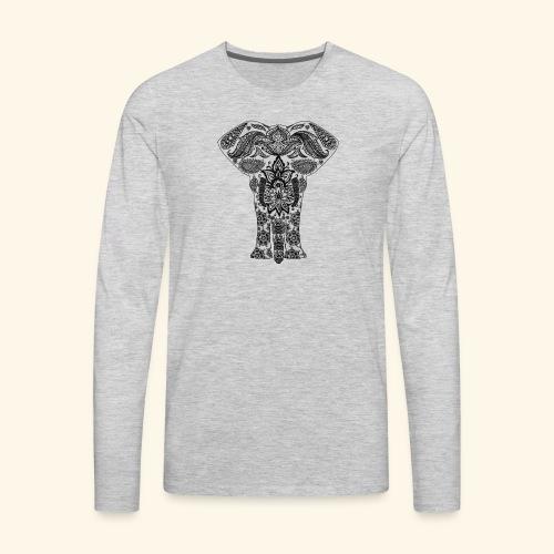 Mandala Elephant - Men's Premium Long Sleeve T-Shirt