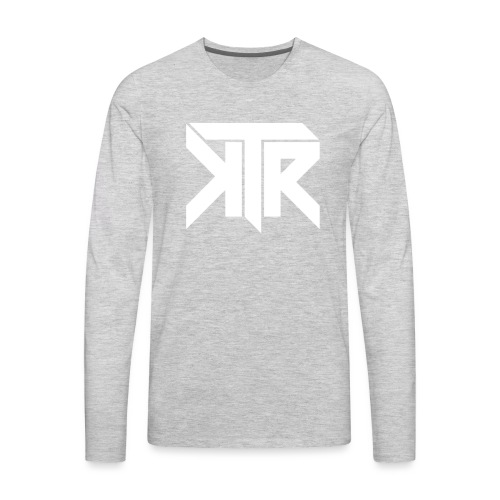KTR Logo White - Men's Premium Long Sleeve T-Shirt
